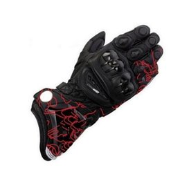leather gloves long finger men 2019 - 2019 New Alpin Leather GP PRO Motorcycle Long Gloves Racing Driving GP PRO Motorbike Original Cowhide Gloves cheap leath