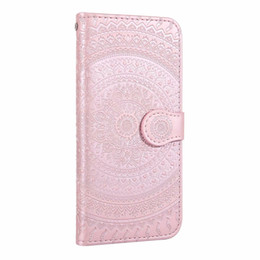 Iphone 5g Card Australia - Sunflower Leather Wallet Case For Samsung Galaxy S10e S10 5G Note 9 S9 IPhone XR XS MAX X 10 7 6 5 Datura Flower Holder Flip Cover ID Slot