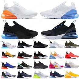 watermelon cushions Canada - 2020 Barely Rose Light Cream Bred 270 womens mens running shoes Best Quality Cushions triple white black mens trainers tennis sneakers 01