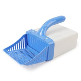 plastic sand shovels Canada - Durable Cat litter Shovels Kitten Sand Waste Scooper Shovel Plastic Toilet Litter Cat Scoop Clean Tool for Pet Dog Cat Scoop Pet