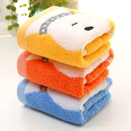 Cartoon Towel Dog Australia - 26*52CM Lovely Cartoon Cute Dog Cotton Children Kids Small Square Handkerchief Towel