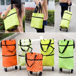 $enCountryForm.capitalKeyWord Australia - Foldable Shopping Trolley Bag Cart Rolling Wheel Home Grocery Storage Bag Handbag Tote Travel Organizer Bags 5Colors AN2146