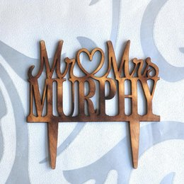 $enCountryForm.capitalKeyWord Australia - Personalized Wood Wedding Cake Topper, Custom Rustic Wedding Cake Topper, Mr and Mrs Topper