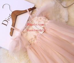 $enCountryForm.capitalKeyWord Australia - 19ss New style kids clothes girls embroidered Lace dresses gauze Bow Sling dress girl prom summer Beach princess dress bu-r1