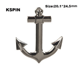 Wholesale anchor lapel pins online shopping - Anchor Badge Lapel Pin On Backpack Pins For Clothes XY0097