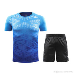 badminton clothing UK - 2019 Lining badminton clothes, T-shirt shorts, men and women ping pong sports clothes, tennis clothes