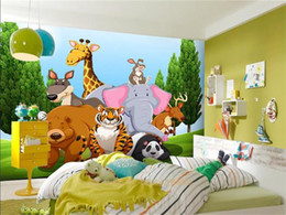 Kids Wallpaper Stickers Australia - custom size 3d photo wallpaper bed room mural tiger bear giraffe animal park kids picture sofa TV backdrop wallpaper non-woven wall sticker