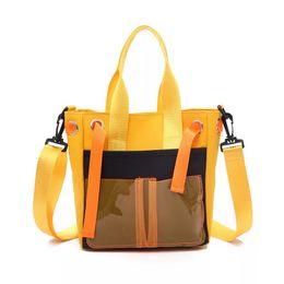 $enCountryForm.capitalKeyWord UK - 2019 New Canvas Casual Handbags Large Capacity Plastic Laser Bags Ladies Portable Shoulder Tote Lunch Bags For Girls Women