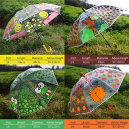 Frog tube online shopping - Cartoon Transparent Child Umbrella PVC Straight Umbrella Clear Long Handle Rain Umbrellas Kids Frog Giraffe Rain Umbrella