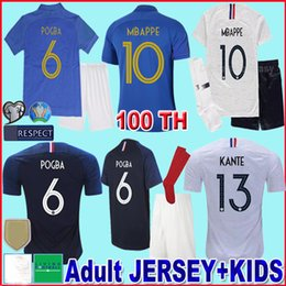 4e81506a7b8 Maillots de Foot 2018 2019 100th Anniversary Blue Kids soccer Jersey  Football Shirt Uniforms Kits 18 19 Camisas de Futebol Camisetas