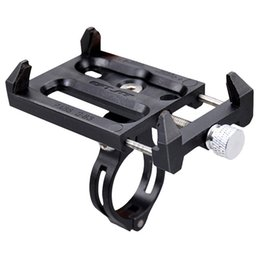 Wholesale Bike Phone Holder Practical Aluminium Alloy Phone Mount Bracket Stand Mountain Bike Mobile Holder Bicycle