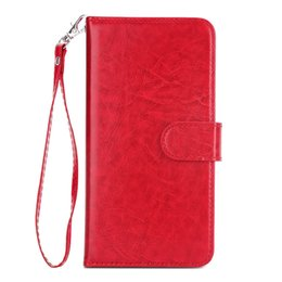 China One Piece Wallet PU Leather Case For Samsung Galaxy S 6 7 8 9 Plus Note 8 9 Card Slot Holder Cover For Male Female With Lanyard for gifts cheap female card holder suppliers