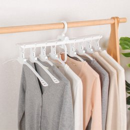 Plastic Foldable Clothes Hangers Australia - Multifunctional Wardrobe Magic Hanger Foldable Clothes Storage Hangers Household Multi-layer 360 Degree Rotation Drying Racks DH1029 T03