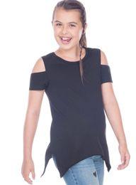 Designs Girls Shirts New Australia - ins hot sale baby girls shirts kids summer cotton tunic top children cut out new design t shirt