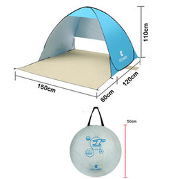 pop up beach shade 2019 - Wholesale- Automatic Beach Tent UV Protection Pop up Tent Sun Shade Awning with Mat discount pop up beach shade