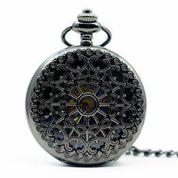 $enCountryForm.capitalKeyWord Australia - Hollow Gear Fob Design Mechanical Watch Vintage Silver Pocket Watch Waist Chain Men's Women Hand Winding PJX1239