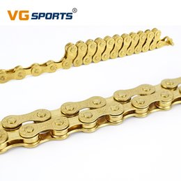 $enCountryForm.capitalKeyWord Australia - 8 Speed Bicycle Chain Gold 116L Bike Chain 24 Speed Solid Paltes Mountain Road Bike Chains 8S Ultralight 309g Boxed F80
