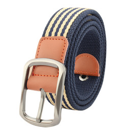 casual belts for jeans Canada - Thick Canvas Pin Buckle Belt Outdoor Tactical Belt Unisex Canvas Belts For Jeans Male Casual Straps Ceintures