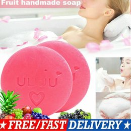$enCountryForm.capitalKeyWord Australia - Body Soap 100g Instant Miracle Whitening Soap Thailand Bumebime Handmade White Skin Natural Soaps Bath Fruit Essential Oil Soap