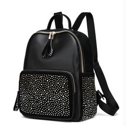 Backpacks For Women Travelling Australia - Shining Rhinestones Travel Backpack Shoulder Schoolbag Girl Lady Pu Leather Small Bags For Women 2018 Mochila Feminina Y19061102