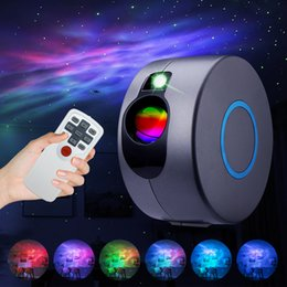 wave effect lighting Canada - LED Effects Galaxy Starry Sky Projector Rotating Water Waving Night Light Led Colorful Nebula Cloud Lamp Atmospher Bedroom Beside Lamp