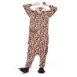 Discount leopard cat woman costume - Women Onesie Leopard Kitty Cat Pajama Adult Sleep Overalls Cartoon Animal Costume Girls Fashion Party Suit Winter Loose