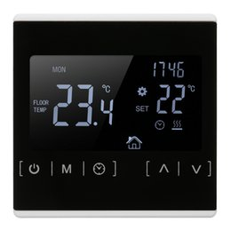 Water Temperature Lcd Australia - LCD Touch Screen Thermostat Electric Floor Heating System Water Heating Thermoregulator Temperature Measuring Tool