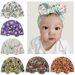 baby skull fabric Australia - Baby children's hooded cap baby soft printed fabric bow hooded cap stylish and comfortable kids headdress accessories