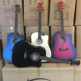 Musical Instruments Acoustic Australia - 41 inch full beech beginners entry guitar student folk acoustic guitar musical instrument wholesale free shipping