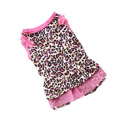 drop ship apparel UK - Cute Leopard Summer Pet Puppy Dress Small Dog Cat Pet Clothes Apparel Girl Doggy Lace Clothing Dresses Drop Ship 2019 #B15