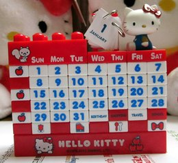 Wholesale Cartoon Pink Hot Pink Hello Kitty Doraemon Bear Whole Year Sliding Puzzle Separated Calendar Puzzle New Yeat Gift Toy