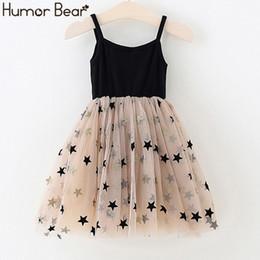 BaBy summer star online shopping - Humor Bear Summer Dress Girl Princess Party Dress Fluffy Mesh Star Baby Girl Clothes Children Girls Summer