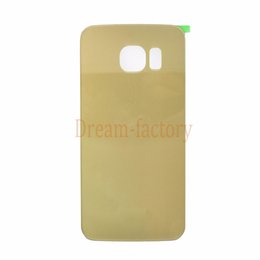 samsung s6 edge back cover UK - 50PCS Back Glass Cover For Samsung Galaxy S6 G920   Edge G925   Edge+ Plus G928 Battery Door housing with Sticker DHL Shipping