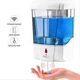 dispenser kitchen Australia - Automatic Liquid Soap Dispenser 700ml Wall Mounted Dispensers Touchless Sensor Infrared Soap Dispenser for Bathroom Kitchen CCA12283 3pcs