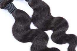Jet Black Body Wave Hair Australia - Best-Selling Jet Black Color Malaysian Body Wave Hair Extensions 10-28 Inches 100% Human Hair Weave Bundles 10-30 Inchs Virgin Hair Weaving