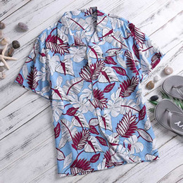 7d27853ce557 Summer Casual Hawaiian Men Shirt Printed Short Sleeve Cotton Loose Holiday  Seaside Beach Men Shirt Tops Clothes Camisa L-4XL