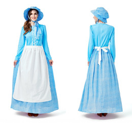 d7ef1d5623 Plus Size Light Blue Lace Germany Bavaria Oktoberfest Beer Girl Costume  Wench Beer Maid Festival Party Dress With Hat And Apron CPA3066