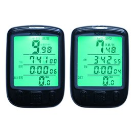 Wired Speedometer Australia - Wired bike Computer Stopwatch WaterProof LED light Odometer LCD Screen Backlight Auto Clear Sunding SD-563A Bicycle Speedometer