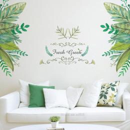 $enCountryForm.capitalKeyWord NZ - Free Shipping Hot fresh green garden plant baseboard wall sticker home decoration mural decal living room bedroom decor