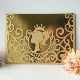 $enCountryForm.capitalKeyWord Australia - 25Pcs  lot Sweet Girl Wedding Invitation Cards Royal Exquisite Envelop Bat Mitzvah Ceremony Bridal Shower Invitations Thanksgiving Gifts