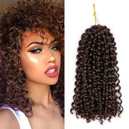 Discount afro kinky hair extensions 613 - 9 pcs Full head Ombre Color Marlybob Crochet Braiding Hair Afro Kinky Curly Jerry Curl Braids Kanekalon Synthetic Hair E