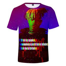 Mens Cotton Tees Women Australia - 19ss 3D Tshirts xxxtentacion Mens Women Teenager Clothing Tees Rapper Hiphop Casual Tees Short Sleeved Tops