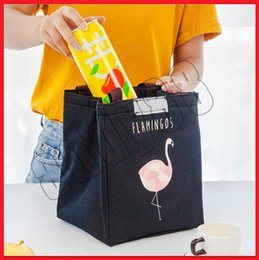 $enCountryForm.capitalKeyWord NZ - 2019 Make up Flamingo Print Thermal Bag Waterproof Lunch Bags Portable Insulated Tote Food Picnic Lunch Bags free shipping