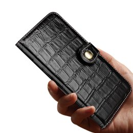 $enCountryForm.capitalKeyWord Australia - Genuine Leather Wallet Case for iPhone X XR XS Max Luxury 3D Crocodile Texture Phone Case for iPhone 7 8 Plus Flip Cover Case