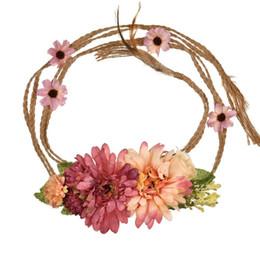 $enCountryForm.capitalKeyWord Australia - Artificial Garland Bohemia Flower Garlands Bridal Hair Accessories Bridal Headpieces Wedding Headdress For Bride Dress Headdress CPA1891