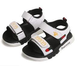 Новые летние детские сандалии для мальчиков и девочек детская обувь туфли для малышей модные детские сандалии обувь евро размер 21-35 на Распродаже
