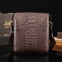 7d3fd28c6ba3 Hot New Crocodile skin men's single shoulder bag top quality men's leisure  and business partner designer handbags free shopping