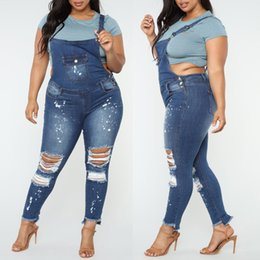 Wholesale woman denim skinny overall pants resale online – Women Summer Pants Fashion new Women Casual Denim Bib Hole Pants Overalls Jeans Demin Trousers Jumpsuit Y729
