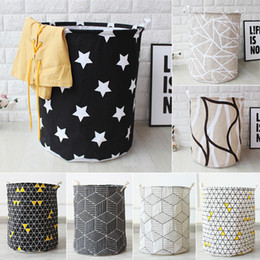 $enCountryForm.capitalKeyWord Australia - Art Cloth Folding Geometry Dirty Clothes Toys Storage Bucket Dirty Clothes Laundry Basket For Household Storage Basket SH190703