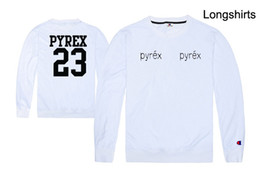 vision print Australia - free shipping new sale hiphop PYREX VISION 23# tshirt printed T-Shirts HBA tshirt long sleeve t shirt 100% cotton
